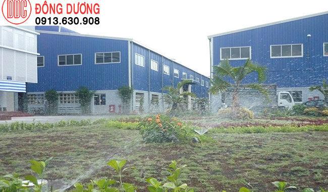 Sơ đồ lắp đặt hệ thống tưới cỏ sân vườn
