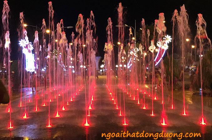 Vòi phun tia nozzle sử dụng cho sàn phun nước, nhạc nước công viên - Phố đi bộ Kiên Giang