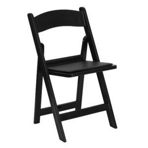 Black Garden Folding Chair Rentals