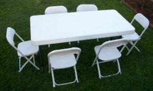 Kids White Samsonite Folding Chair Rentals in Dallas Tx