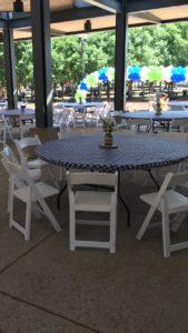 White Garden Folding Chair Rentals in Dallas Tx