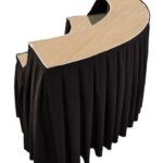 Black Serpentine Skirted Portable Bar