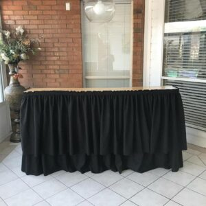 Black Skirted Portable Bar Rentals