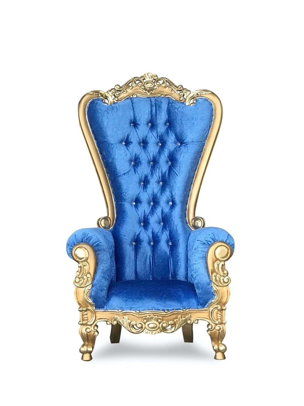 Blue and Gold Throne Chair