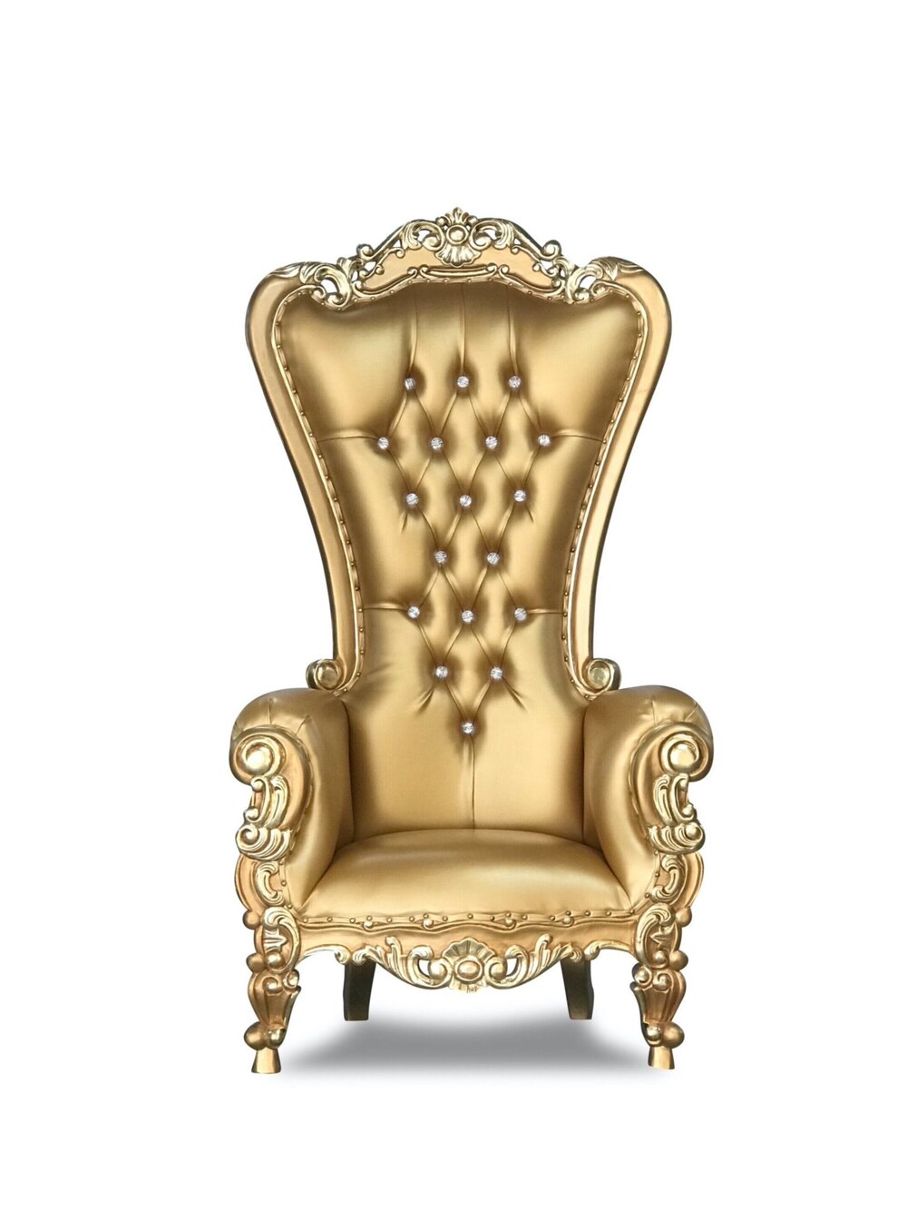 Gold and Gold Throne Chair
