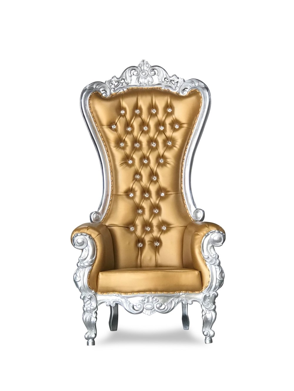 Gold and Silver Throne Chair