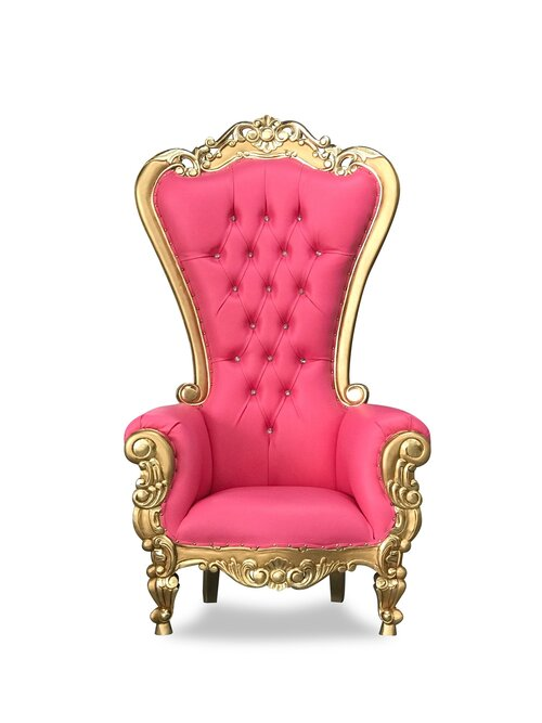 Pink and Gold Throne Chair
