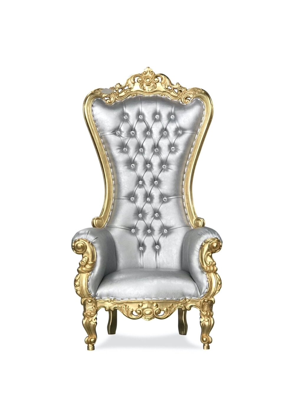 Silver and Gold Throne Chair