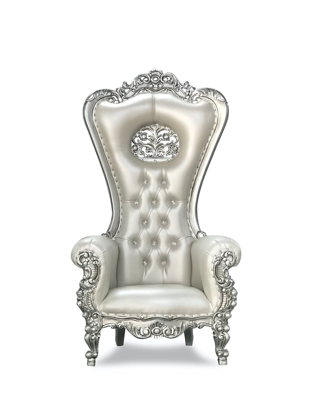 Silver and Silver Throne Chair