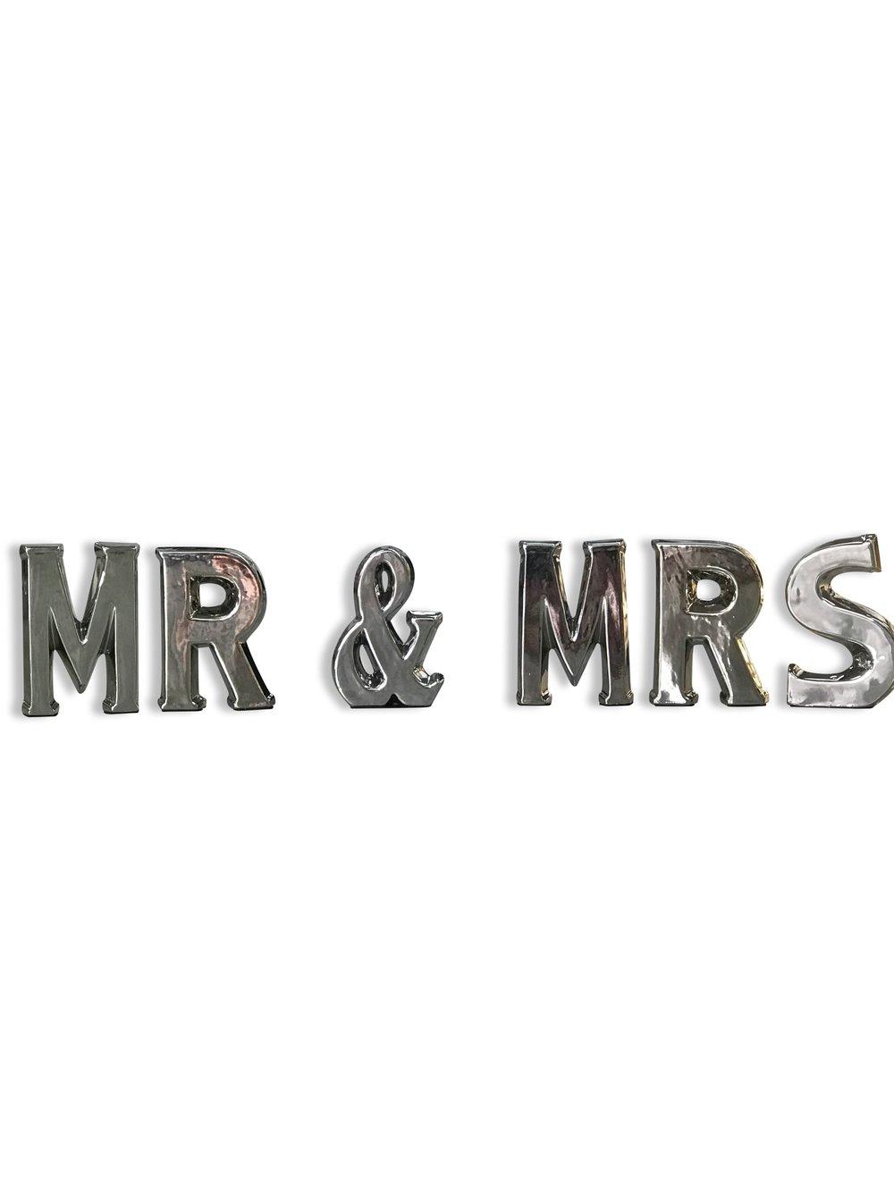 Mr & Mrs Tabletop Letters