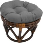Round Solid Color Ottoman
