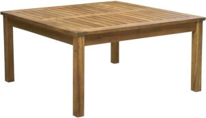 Square Outdoor Acacia Wood Coffee Table