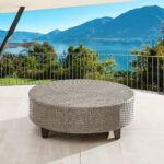 Wicker Rattan Outdoor Round Coffee Table