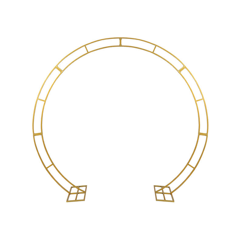 Gold Metal Circle Arch
