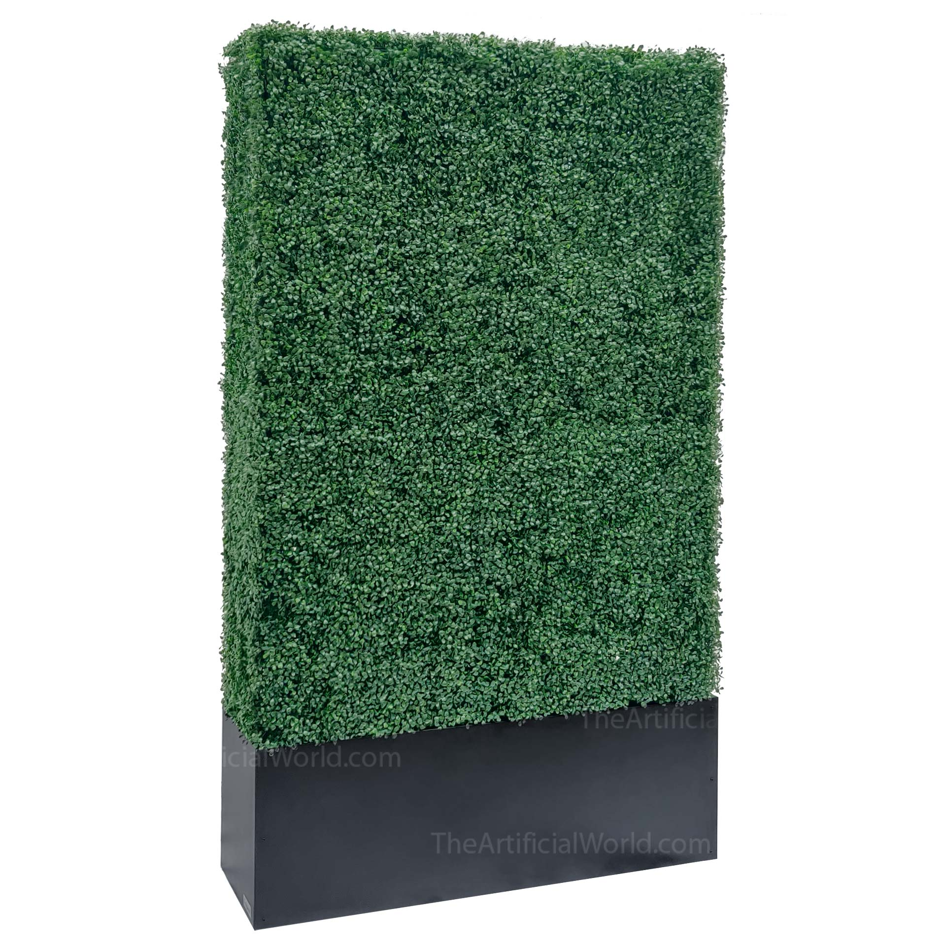Faux Boxwood Hedge Divider Wall With Planter