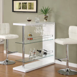 White Leather Barstool Rentals in Dallas Tx