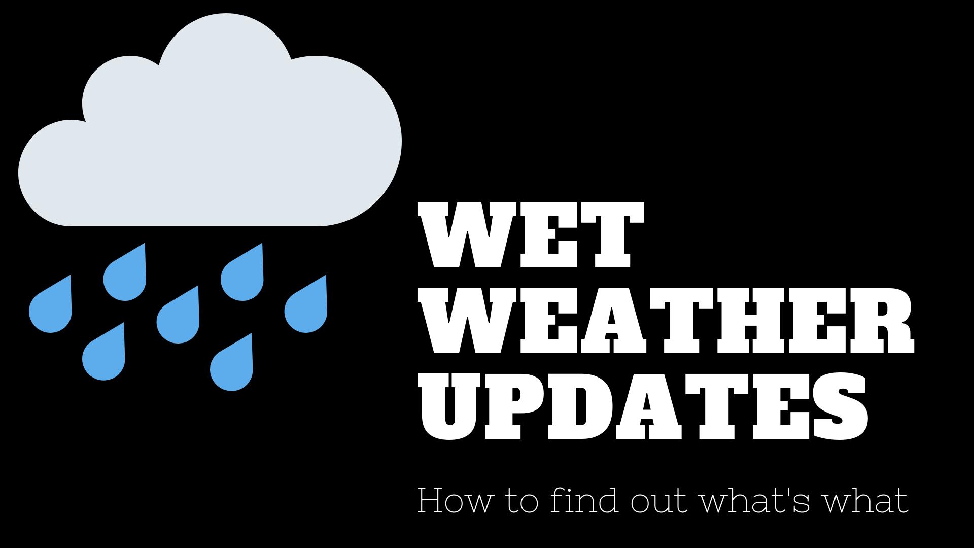 How to get wet weather updates