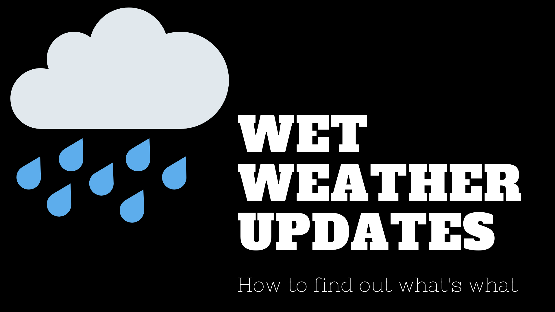 How to get wet weather updates