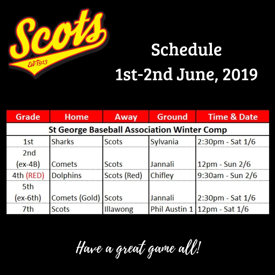 Draw: June 1-2 2019