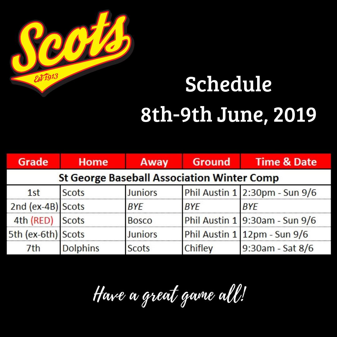 Draw: June 8-9 2019
