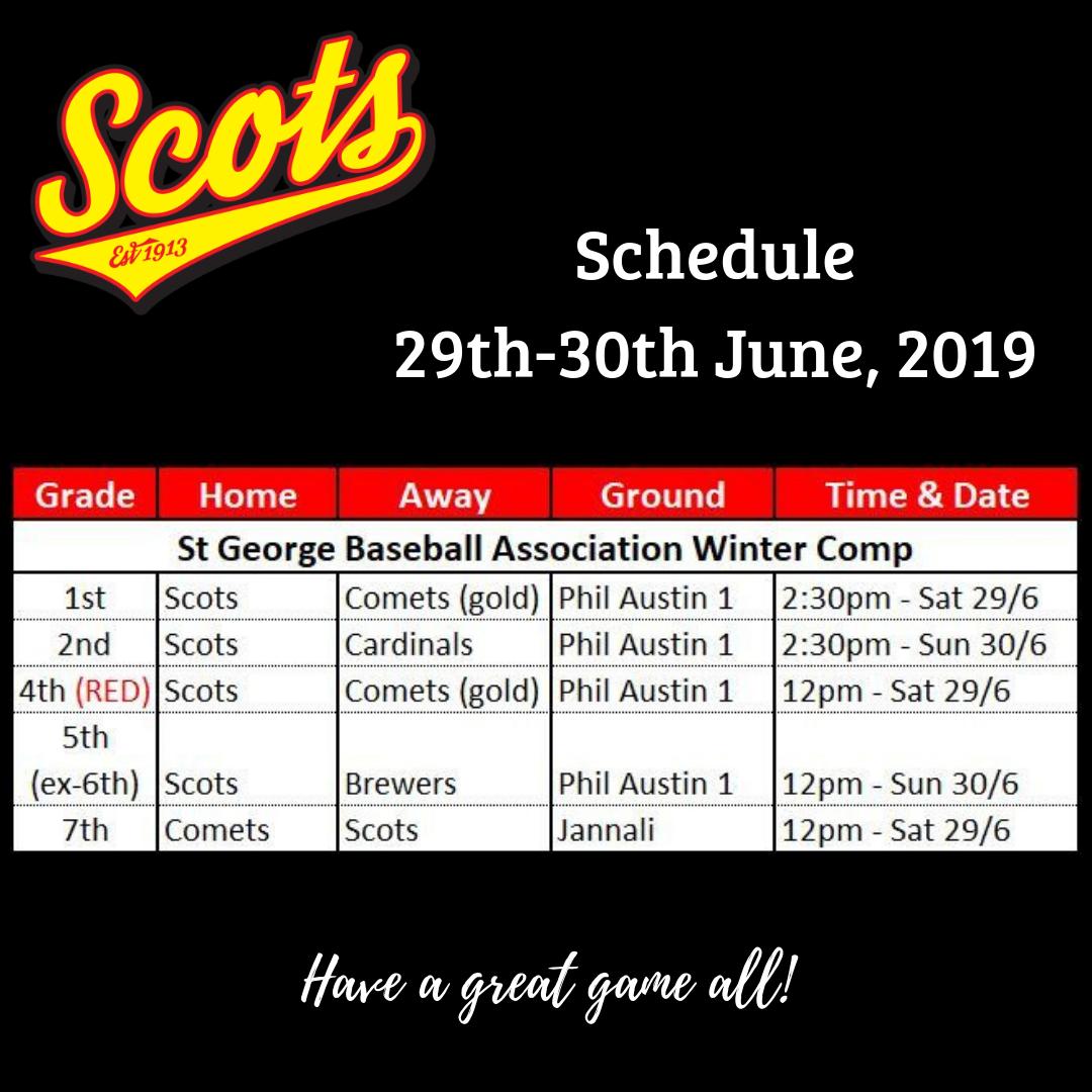 Draw: June 29-30 2019