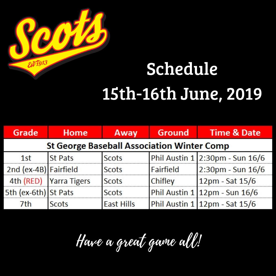 Draw: June 15-16 2019