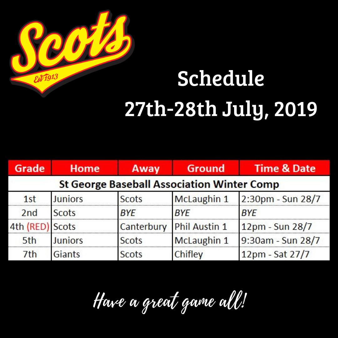 Draw: July 27-28 2019