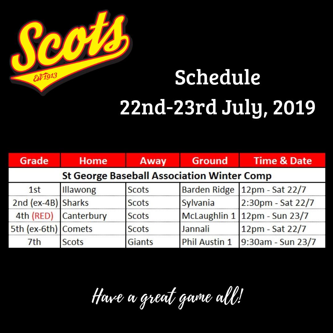 Draw: July 20-21 2019