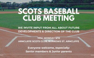Baseball Club Meeting