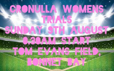 Cronulla Women's Trials 2020