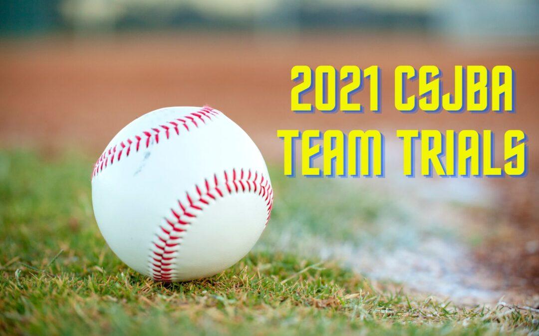 2021 CSJBA team trials