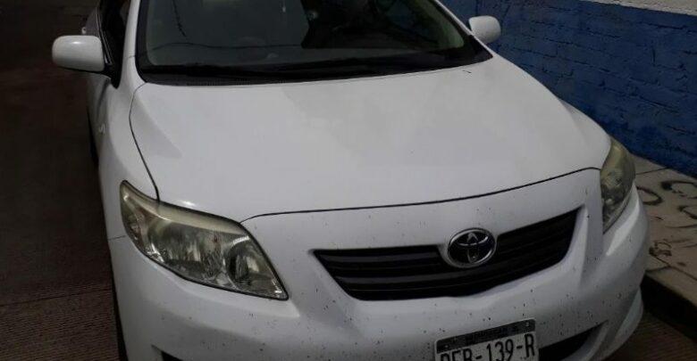 Recupera Policía vehículo robado en Pátzcuaro