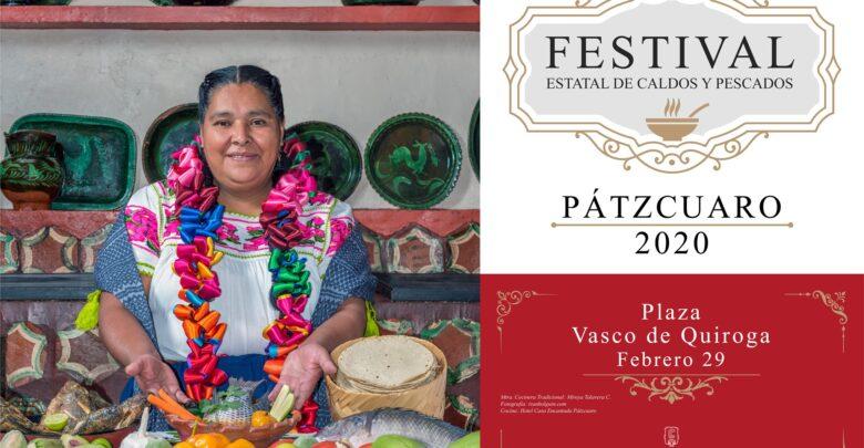 Invita Víctor Báez al Festival Estatal de Caldos y Pescados Pátzcuaro 2020
