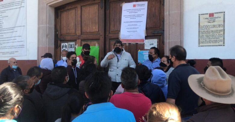Comerciantes de Pátzcuaro toman la presidencia