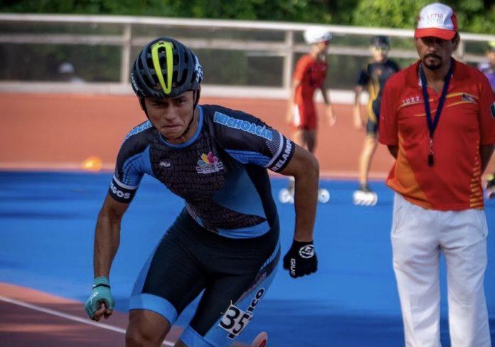 Raúl Melgoza Vázquez, patinador de Pátzcuaro representará a México en Colombia