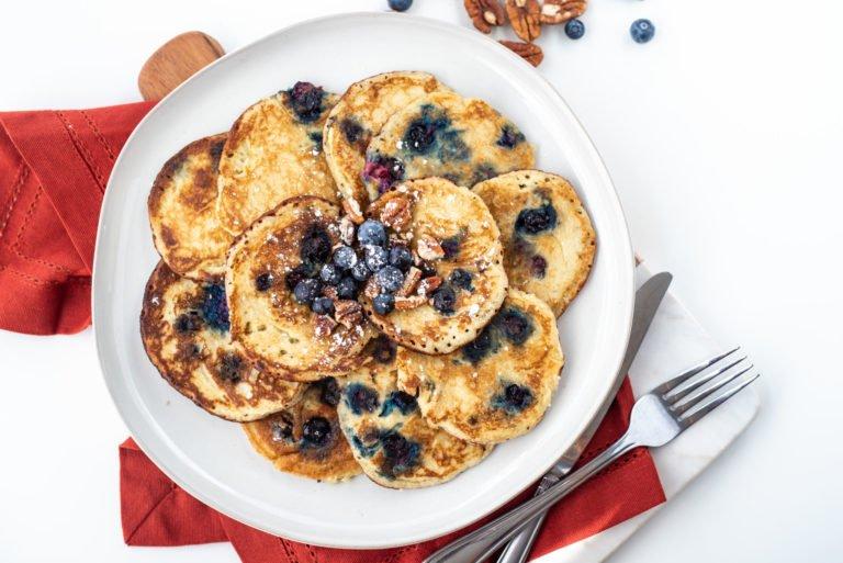 Fluffy Almond Flour Keto Pancakes (Low Carb + Gluten Free)
