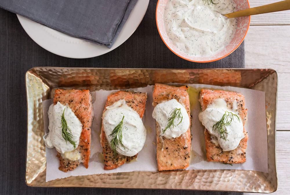 Pan Seared Salmon with Dill
