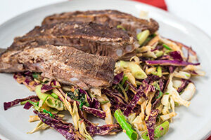 Pork Ribs with Asian Cabbage Slaw