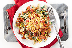 Southwestern Scramble with Bacon