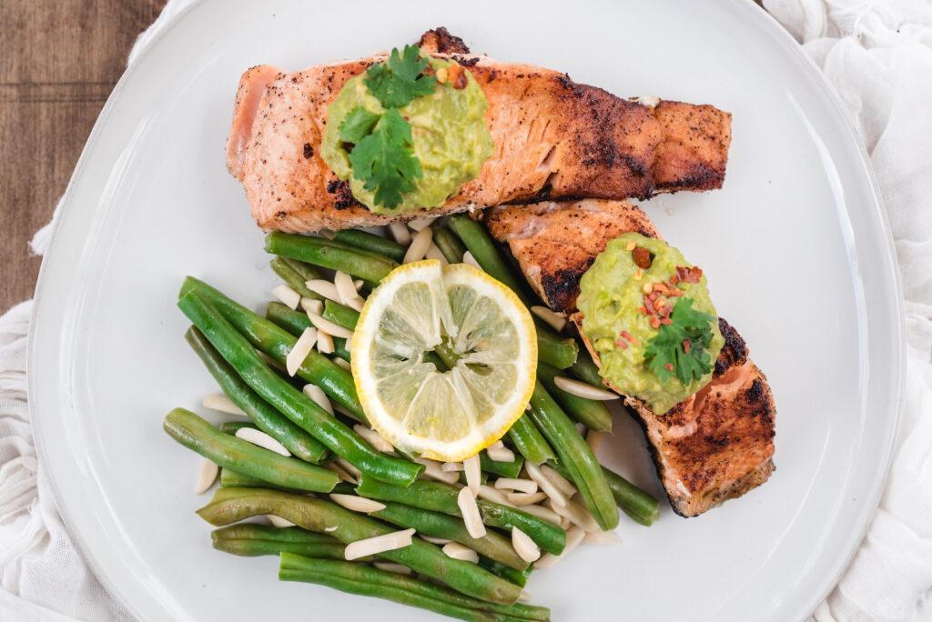 salmon green beans