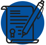 An image icon of a pen and paper that represents the subject of Post divorce modifications .