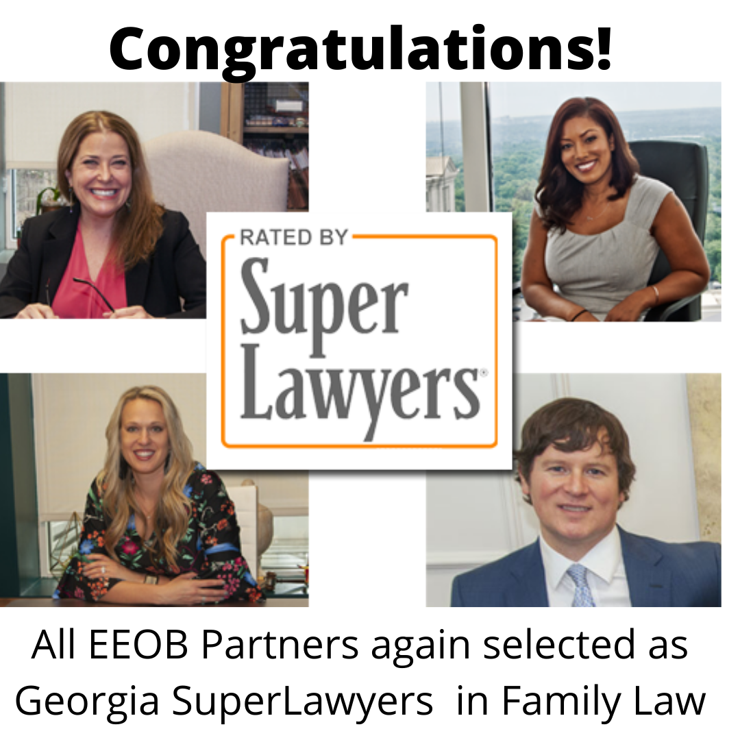 An image of the Super Lawyers Badge for EEOB Family Law for 2020.