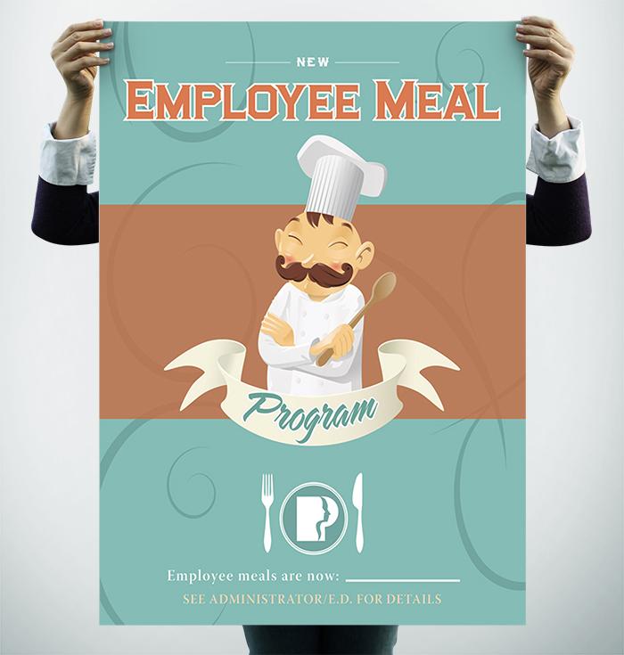 Employee Meal Poster Internal Branding Piece