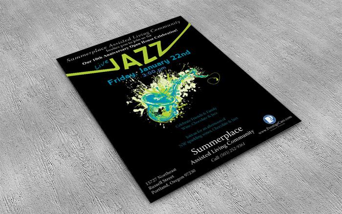 Jazz Fest Branding Piece Flyer
