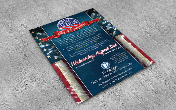 Made in the U.S.A. event flyer