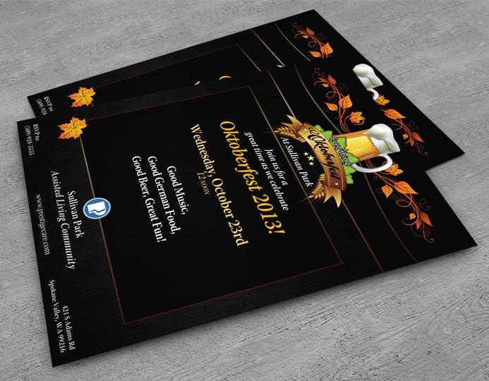 Octoberfest Brand Event Branding Piece Flyer