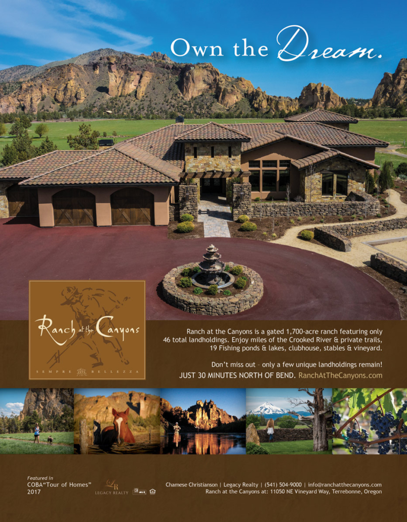 Luxury real estate magazine advertisement