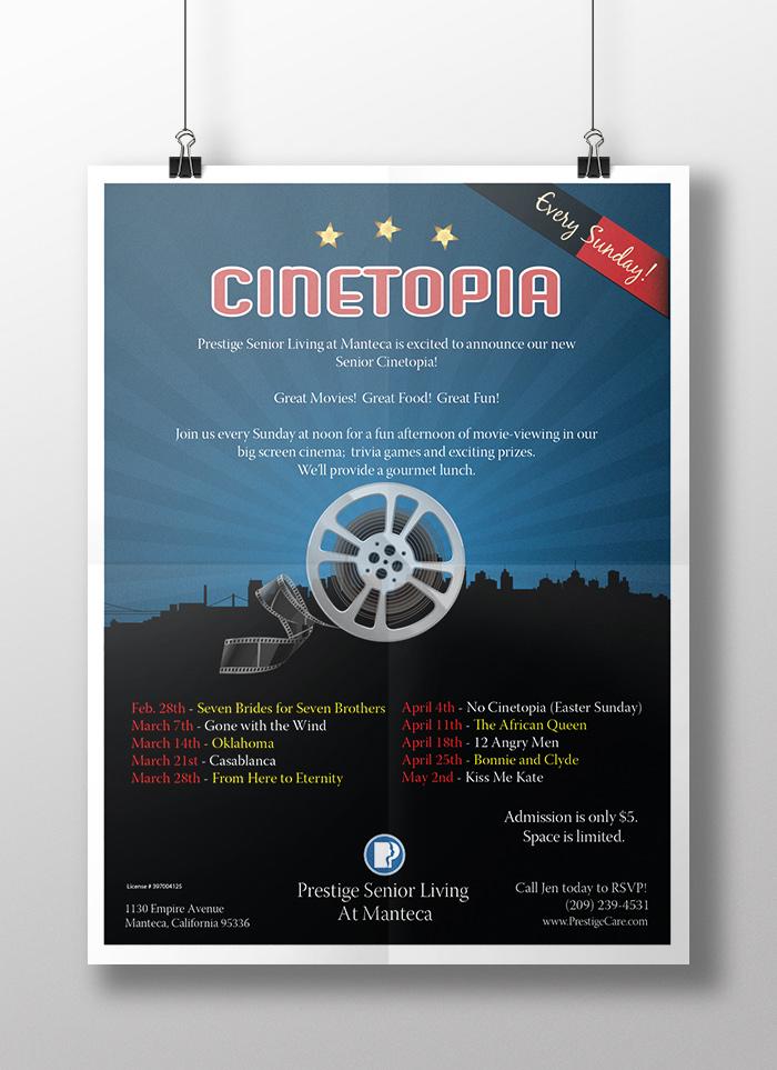Cinetopia Classic Cinema Event Branding Piece