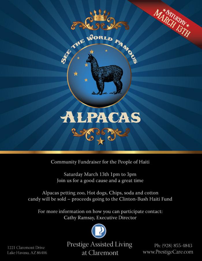 Alpaca Branded Event Flyer
