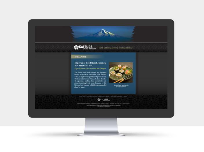 Katsura Authentic Japanese Website Design